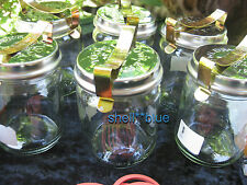 SIX Fowlers Vacola #14 COMPLETE **STAINLESS LID** Ring Clip Preserving Jars NEW