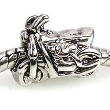 Wholesale 20pcs Motorcycle Bike Silver European Bracelet Spacer Charm Beads D48