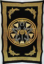"""Yellow Goddess Tapestry Blanket 72 x 108"""" Wiccan Pagan Altar Supply WTNPY"""