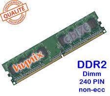 Mémoire 1GO DDR2 PC2-6400U Hynix 240PIN 800MHZ 1Rx8 Dimm HYMP112U64CP8-S6 AB