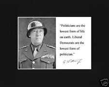 """General George S. Patton """" liberal..."""" Quote Black Matted Photo Picture # fh2"""
