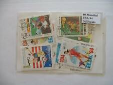**** TIMBRES SPORTS FOOTBALL MONDIAL USA 94 : 40 TIMBRES TOUS DIFFERENTS ****