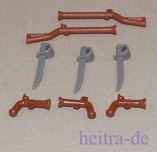 LEGO Piraten - Waffenset mit 8 Waffen / Musketen, Degen, Pistolen NEUWARE