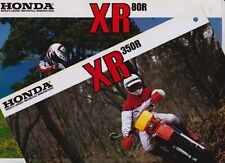 Two 1984-85 HONDA XR TRAIL BIKE Brochures XR350R & XR80R