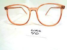 Nos Vtg Value Eyewear Preppy Oversize Round Light Brown 1980s Oversize (Wre-40)