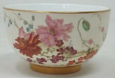 Antique Royal Worcester Blush Ivory Sugar Bowl Hand Floral Painted Pattern 4158