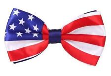 New Pre Tied American Flag Stars Stripes Uncle Sam Party Fancy dress Bow ties