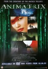 ANIMATRIX 2003 series authentic 1 sheet advance movie poster for a video shop