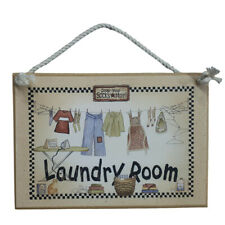 Country Printed Quality Wooden Sign LAUNDRY ROOM Plaque New