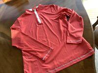 Cutter & Buck Women's Size Large Pullover 1/4 Zip CB DryTec Golf
