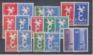 D. Europa CEPT 1958   Jahrgang komplett   **  (mnh)