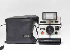 Polaroid 1000 Camera con polatronic 1 relámpago y bolso original revisado! n.1345