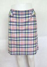 BODEN blue & pink check skirt size 14