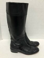Corso Como Black Leather Knee High Riding Equestrian Style Boots Sz 6 M