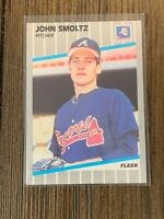 1989 Fleer John Smoltz Rookie #602 HOF