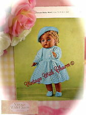 Vintage Knitting Pattern Dolls Smart Outdoor Set, For 16 Inch Dolls  FREE P&P!!