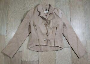 Stella McCartney Hemp Cotton Fitted Blazer Jacket 42 Taupe Beige 1 Button Design