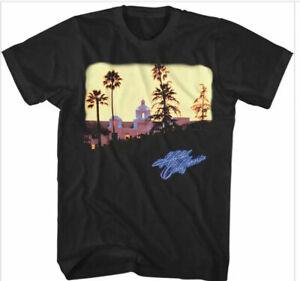 Official The Eagles Hotel California Mens Black T Shirt Eagles Classic Tee