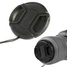 52mm Center Pinch Snap Front Lens Camera Cap Protection Cover With String
