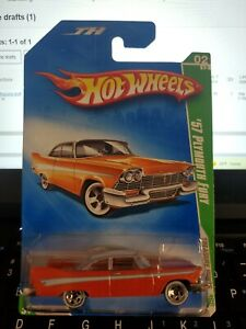 2009 HOT WHEELS TREASURE HUNT '57 PLYMOUTH FURY *OFFERS* COMBINE SHIPPING