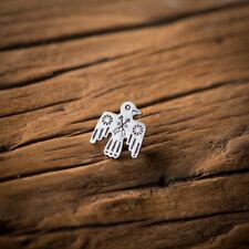 Native American Thunderbird Pin Silver-Plated Vintage Handmade RRL Badge Indian