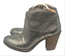 """Lucky Brand Women's Pewter Eller 3.5"""" Heel Booties, Size 9.5 M"""