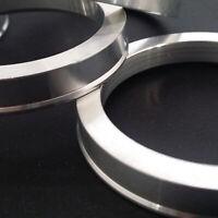 Aluminium Spigot Rings Set Of 4! 73.1 - 57.1 To Suit VW