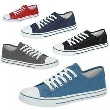 Zapatos de Lona para Hombre Suela Plana Zapatillas Planos con Cordones Zapatos