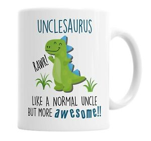 Unclesaurus Mug Uncle Dinosaur Cup for Fathers Day Birthday Christmas Funny Mug