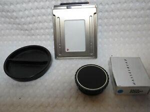 Hasselblad 44016 Rapid Winding Crank, Bodydeckel 51438 & Einzelfilmhalter, 6x6