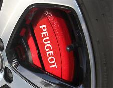 PEUGEOT HI - TEMP PREMIUM BRAKE CALIPER DECALS STICKERS CAST VINYL 106 206 GTI