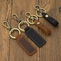 Retro Leather Keychain Belt Loop Key Holder Ring Keyring Keyfob Detachable 1pc