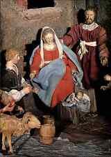 Religione natale miniatura mangiatoia SICILIA ANNO 1700 color cartolina postcard