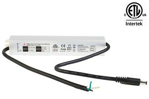 ETL LISTED 12V 3A 36W LED Light waterproof power supply IP67 with DC plug