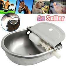 4L Chicken Drinking For Horse Stainless Automatic Water Bowl Dog Auto Fill ACB#