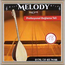 SAZ BAGLAMA Tel 0,18 Profi Strings Saiten Kisa Sap    short neck     Melody Saz
