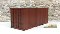 Scale model 1:43 Container 20 feet, brown (142x56x61)