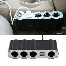 4 Way Multi Socket Car Cigarette Lighter Splitter USB Plug Adapter Charger FE