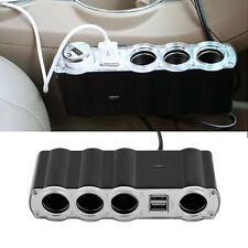 4 Way Multi Socket Car Cigarette Lighter Splitter USB Plug Adapter Charger JL