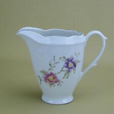 Creamer Vintage Louise Rose Scalloped Fine Polish Porcelain Cmielow China Poland