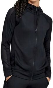 Under Armour Women's UA Tech Terry Full Zip Hoodie Jacket - Black NEW