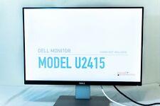 "Dell 24"" UltraSharp Monitor 1920x1200 U2415 w/ Power, HDMI, DP cables | NO STAND"