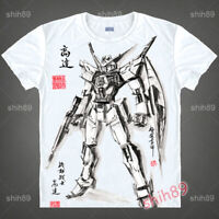 Anime Gundam UC UNICORN Casual T-shirt Short Sleeve Unisex Tops Ink Print