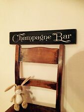 Champagne Bar Sign Gin & Tonic Pub BBQ Party Gift Vintage LOOK Old Wood