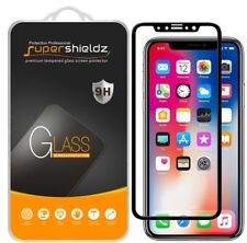 2x Supershieldz for Apple iPhone XS Full Cover Tempered Glass Screen Protector