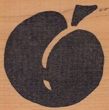 """peach hot potatoes Wood Mounted Rubber Stamp 2 1/2 x 2 1/2""""  Free Shipping"""
