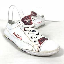 Paul Smith Women sneakers/trainers shoes Leather White Red Plaid size US 8 EU 40