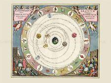 Spazio carta Antico CELLARIUS macrocosmica aratus Planisphere repro print pam2167