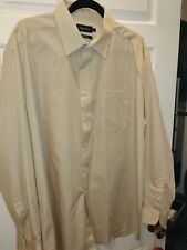 NEW Double TWO Easy Care Mens shirt -  Dark Beige -  17.5