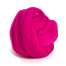 100g DYED MERINO WOOL TOP RASPBERRY PINK DREADS 64's SPINNING FELTING ROVING